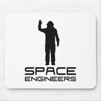 O espaço projeta o branco de Mousepad