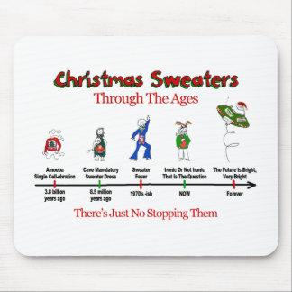 O espaço temporal da camisola do Natal Mouse Pad