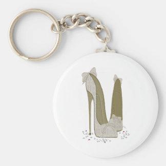 O estilete do casamento calça a arte chaveiros
