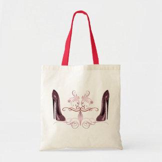 O estilete vermelho calça o saco da arte sacola tote budget