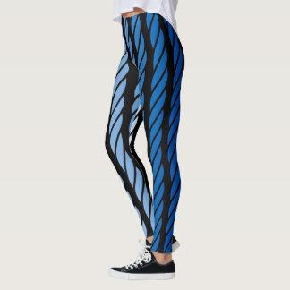 O estilo azul da corda listra a decoração sobre legging