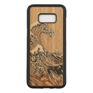O estilo de madeira de bambu do embutimento da capa carved para samsung galaxy s8+
