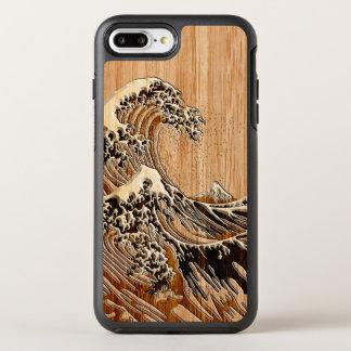 O estilo de madeira de bambu do embutimento da capa para iPhone 7 plus OtterBox symmetry