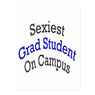 O estudante licenciado o mais sexy no terreno cartoes postais
