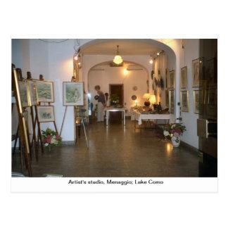 O estúdio do artista, Menaggio; Lago Como 1 Cartão Postal