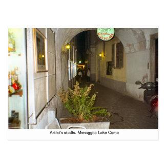 O estúdio do artista, Menaggio; Lago Como Cartão Postal