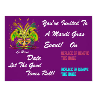 O evento do carnaval do carnaval vê por favor convites personalizados