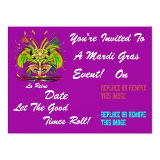 O evento do carnaval do carnaval vê por favor convite personalizados