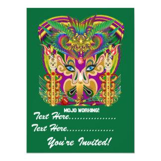 O evento do carnaval do carnaval vê por favor convites personalizado