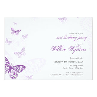 O EVENTO ESPECIAL CONVIDA:: borboletas 3L Convite 12.7 X 17.78cm