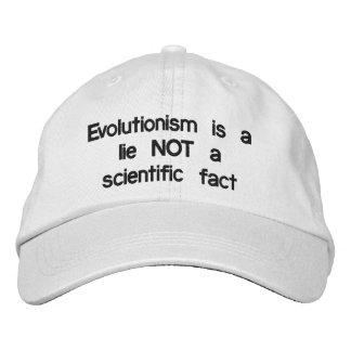 O evolucionismo é uma MENTIRA Boné Bordado