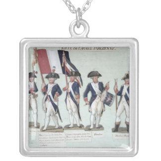O exército parisiense durante o francês bijuteria personalizada