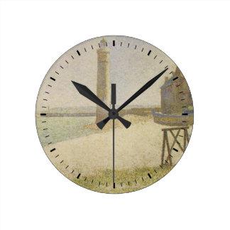 O farol em Honfleur por Georges Seurat Relógio Para Parede