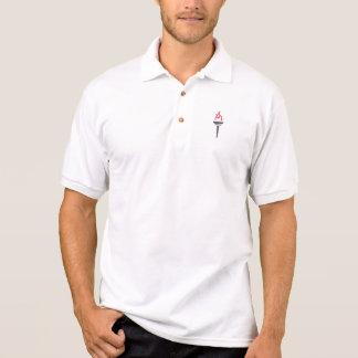 O fazer patrocina a camisa do golfe t-shirt polo