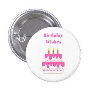 O feliz aniversario deseja o crachá bóton redondo 2.54cm