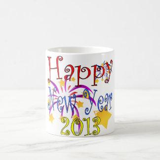 O feliz ano novo 2013 caneca de café