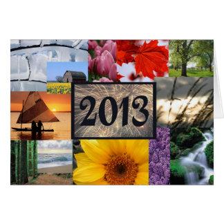 O feliz ano novo 2013 cartão