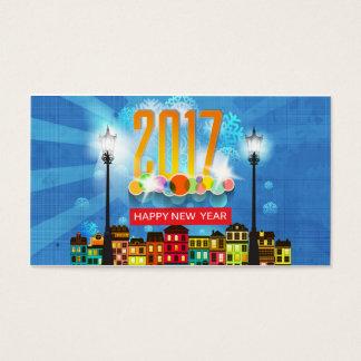 o feliz ano novo 2017 cartão de visitas