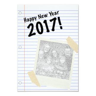 O feliz ano novo 2017 convite 8.89 x 12.7cm