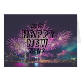 o feliz ano novo cartão
