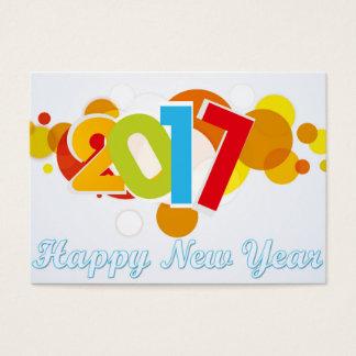 o feliz ano novo cartão de visitas