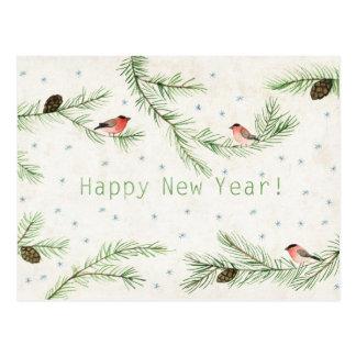 O feliz ano novo! cartão postal