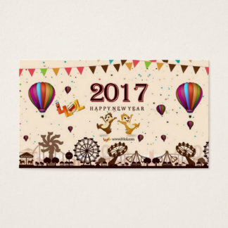 o feliz ano novo do bloco cartão de visitas