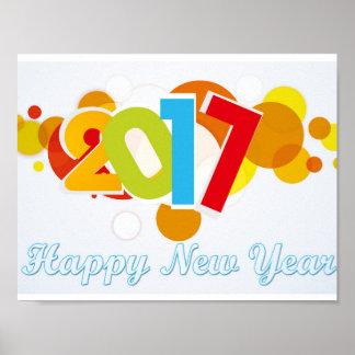 o feliz ano novo do poster pôster