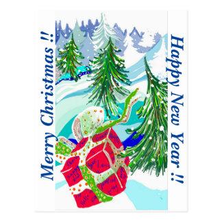 O feliz ano novo, Feliz Natal! Cartão Postal