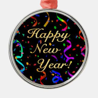 "O ""feliz ano novo! "" ornamento de metal"