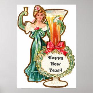 O feliz ano novo póster