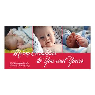 O Feliz Natal a você e a seus esverdeia 3 fotos Cartão Com Foto