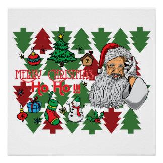 O Feliz Natal e comemora-o com A Poster Perfeito