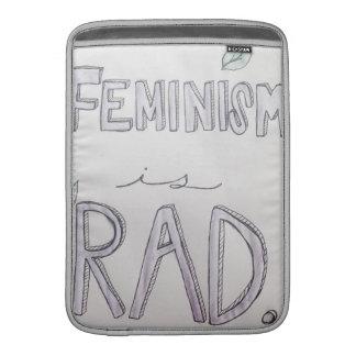 """O feminismo é o ar 13"""" do Rad Macbook luva Bolsa Para MacBook Air"""