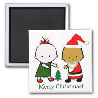 O feriado caçoa o Natal Ímã Quadrado