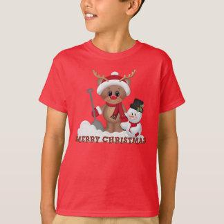 O feriado da rena do Natal caçoa o t-shirt