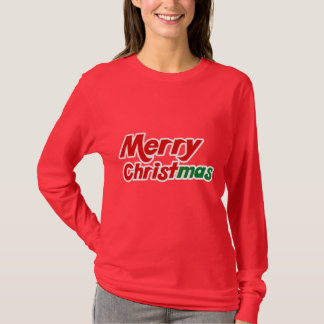 O feriado das mulheres do Feliz Natal T-shirts