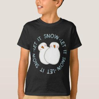O feriado do boneco de neve do Natal caçoa o T-shirts