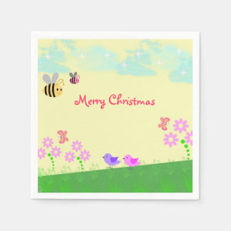 O feriado do Natal caçoa guardanapo de papel