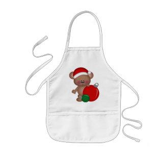 O feriado do urso do Natal caçoa o avental