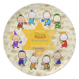 O feriado judaico caçoa a placa do Matzoh Pratos De Festas