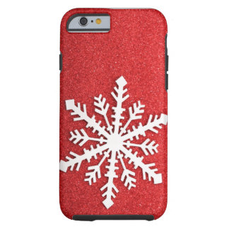 O feriado Sparkles caso do iPhone 6 do floco de Capa Tough Para iPhone 6