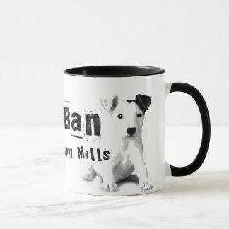 O filhote de cachorro da proibição mmói a caneca