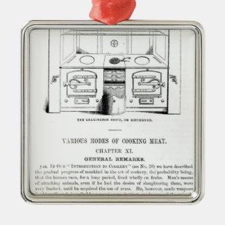 O fogão de Leamington, ou Kitchener Ornamento Quadrado Cor Prata