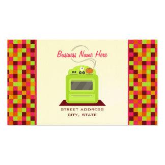 O fogão retro verde-claro esquadra o fornecedor do cartão de visita