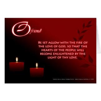 O fogo do amor do DEUS Cartão