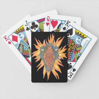 O fogo do dragão cartas de baralhos