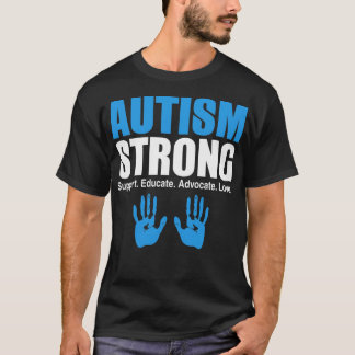 O forte apoio do autismo educa o amor do advogado t-shirt