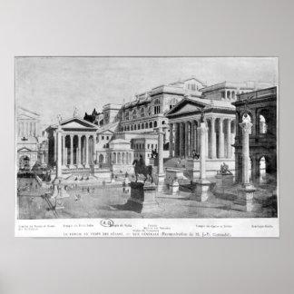 O fórum romano da antiguidade poster