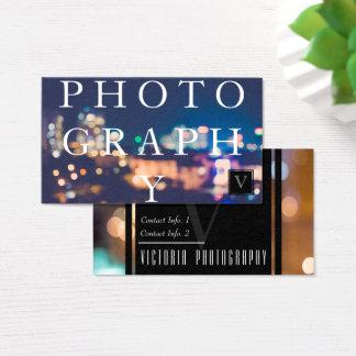 O fotógrafo cartão de visitas